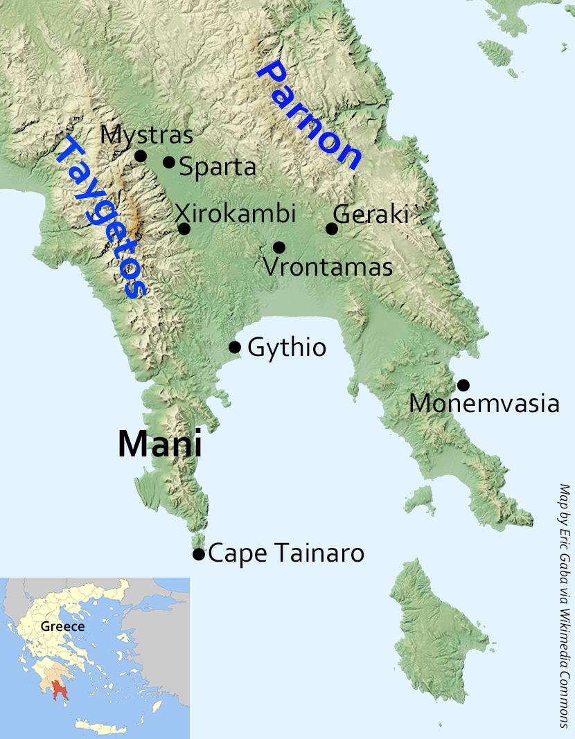 Map Lakonia